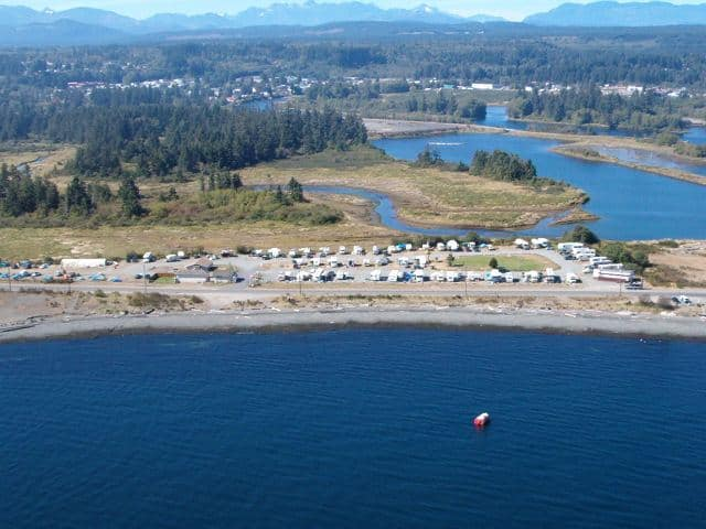 aerial view oceanfront rv park
