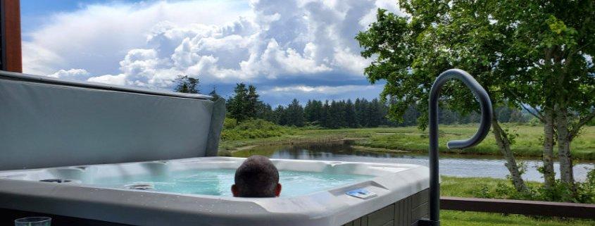 hot tub thunderbird cottage slim